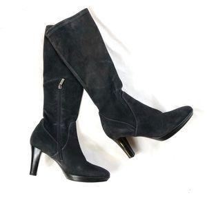 Aquatalia Raine Weatherproof Black Suede Boots